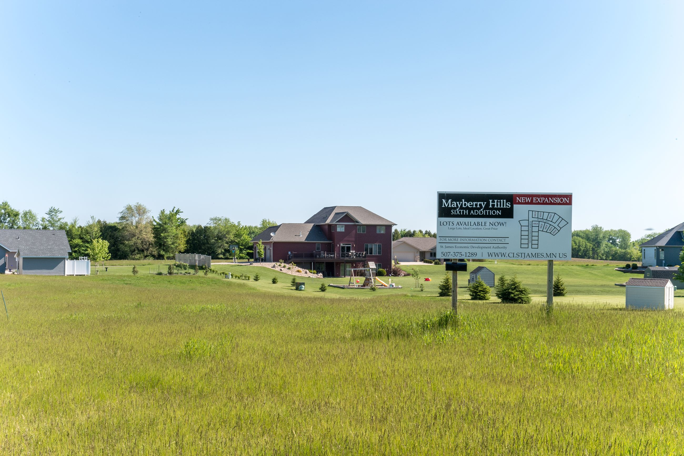 picture of residential lots for sale with billboard