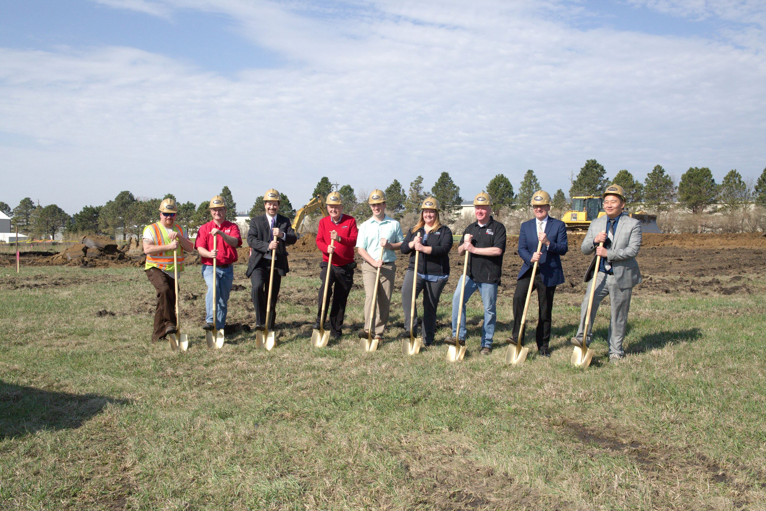 Photo of a groundbreaking